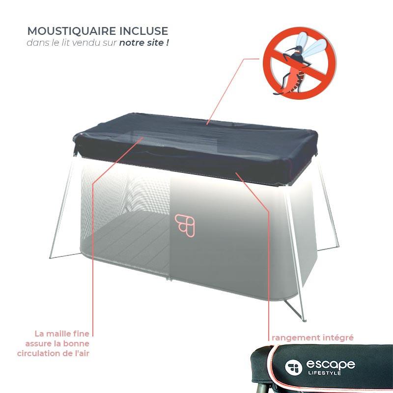 Moustiquaire de lit pliable