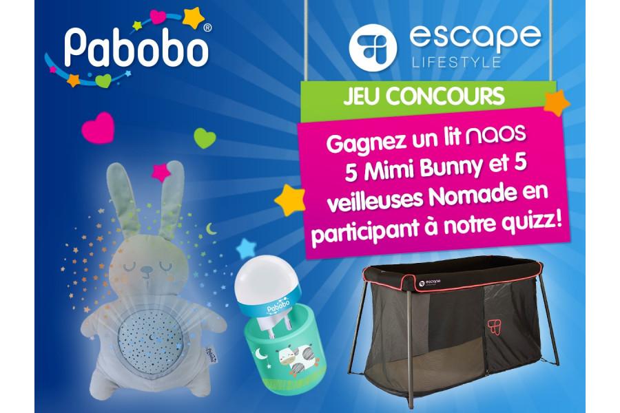 JEU CONCOURS FACEBOOK PABOBO / ESCAPE LIFESTYLE